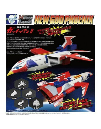 Gatchaman METAL ACTION NEW GOD PHOENIX Evolution toy - 1 - Crazy4Japan.com